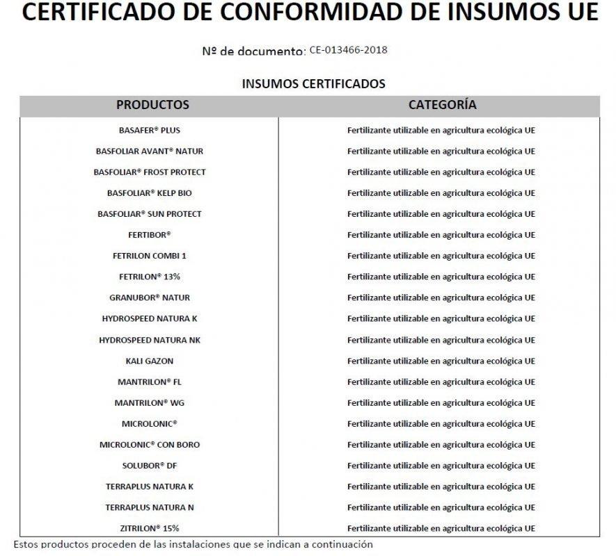 captura pantalla productes certificats de compo expert