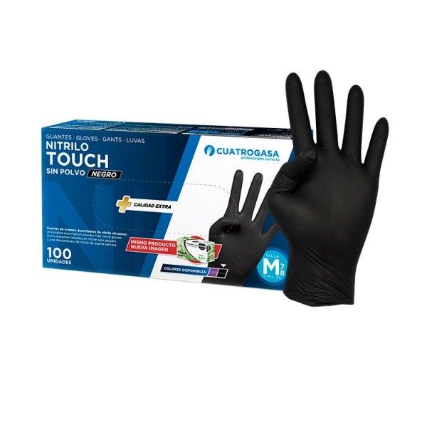 guante cuatrogasa touch negro nitrilo producto